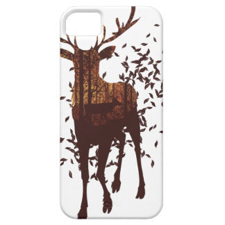 Autumn Forest Landscape and Deer iPhone 5 Case