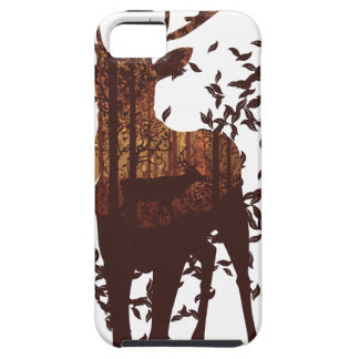 Autumn Forest Landscape and Deer iPhone 5 Cover