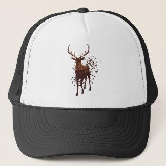 Autumn Forest Landscape and Deer Trucker Hat
