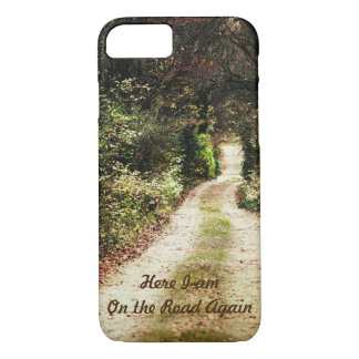 Autumn Forest Path Nature Beauty Customizable Text iPhone 8/7 Case