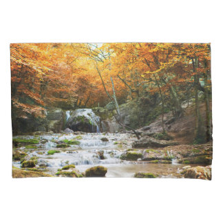 Autumn Forest Waterfall (1 side) Pillowcase