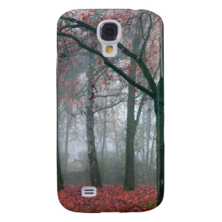 Autumn Forest with Red Leaves.beautiful landscape