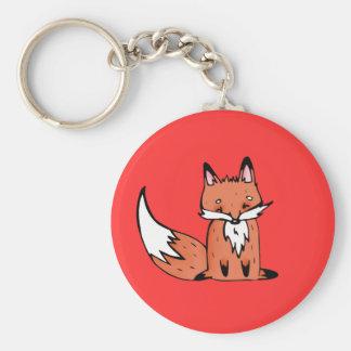 Autumn fox basic round button keychain