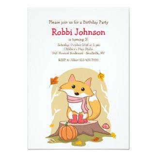 Autumn Fox Invitation