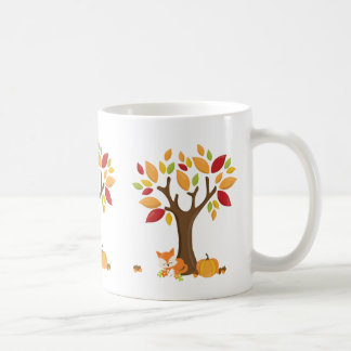 Autumn Fox with Pumpkin Coffee Mug