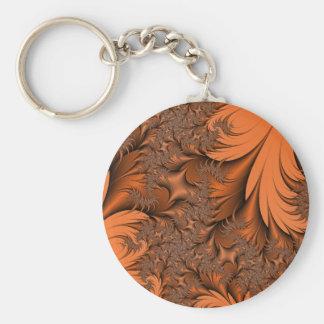 Autumn Fractals Basic Round Button Keychain