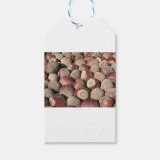 Autumn fruit Closeup of hazelnuts Food background Gift Tags