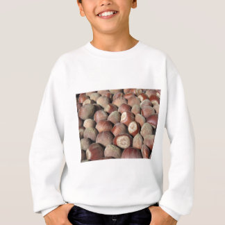 Autumn fruit Closeup of hazelnuts Food background Sweatshirt