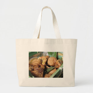 Autumn fruits . Closeup of dried figs with leaves Large Tote Bag