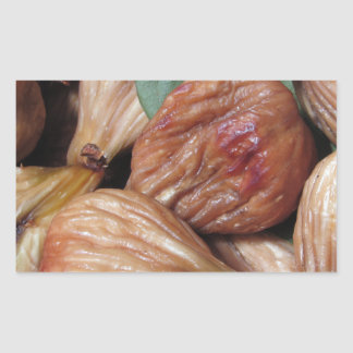 Autumn fruits . Closeup of dried figs with leaves Sticker