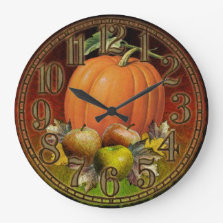 Autumn Fruits Wall Clock