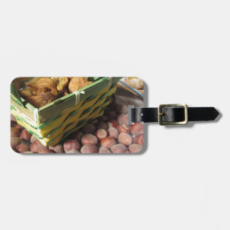 Autumn fruits with hazelnuts and dried figs luggage tag