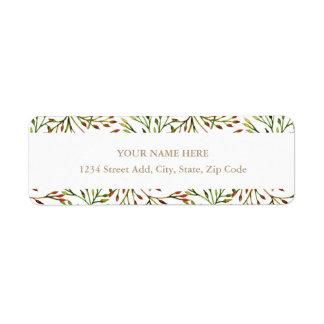 Autumn Garden Address Label