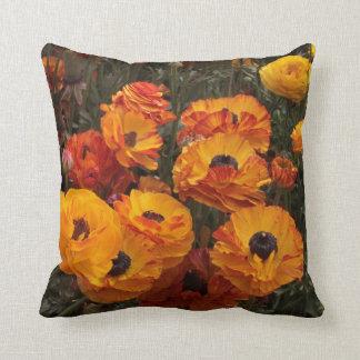 Autumn Garden Flowers Throw Pillow