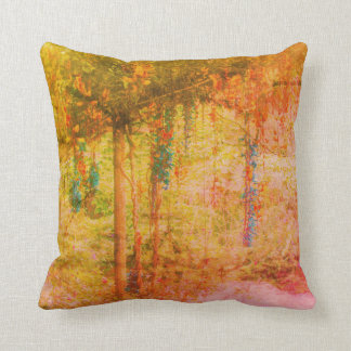 Autumn Garden Scene Throw Pillow