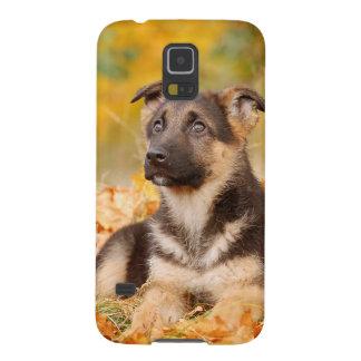 Autumn German shepherd dog puppy Galaxy S5 Cover