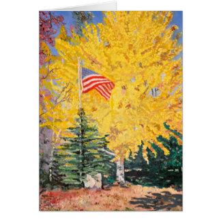 Autumn Ginkgo Tree Card