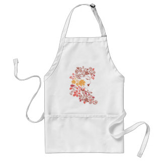Autumn Girl with Floral 7 Standard Apron