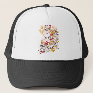 Autumn Girl with Floral 8 Trucker Hat