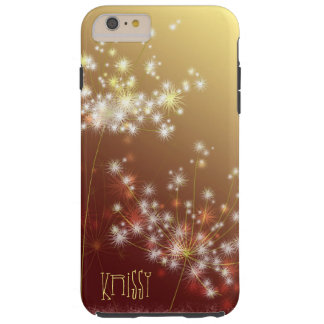 Autumn Glitters Elegant Dandelion Tough iPhone 6 Plus Case