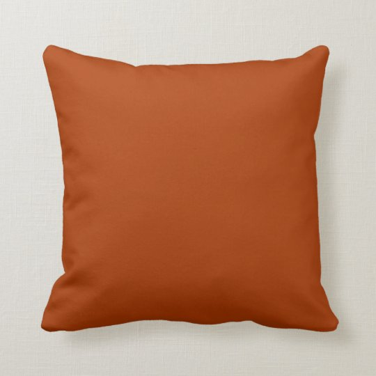 Autumn Gold Deep Rust Orange Colour Only Throw Pillow
