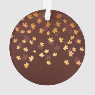 Autumn Gold Leaves Pattern