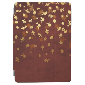Autumn Gold Leaves Pattern iPad Air Cover