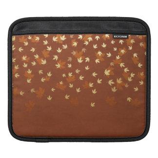 Autumn Gold Leaves Pattern iPad Sleeve