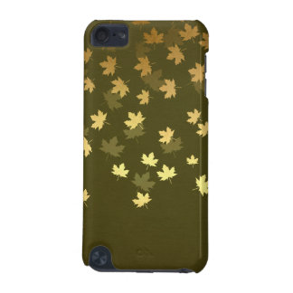 Autumn Gold Leaves Pattern iPod Touch 5G Cases