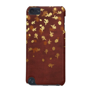 Autumn Gold Leaves Pattern iPod Touch (5th Generation) Covers