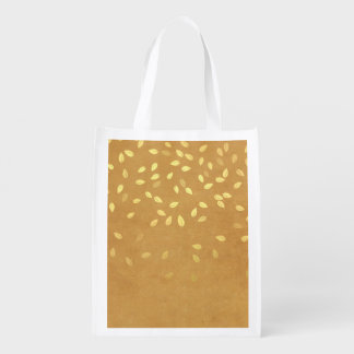 Autumn Gold Leaves Pattern Market Totes