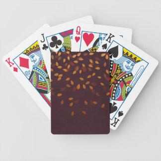 Autumn Gold Leaves Pattern Poker Deck