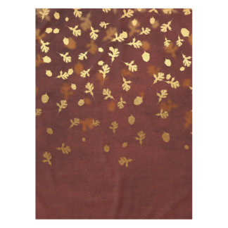 Autumn Gold Leaves Pattern Tablecloth
