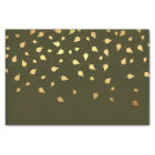 Autumn Gold Leaves Pattern Tissue Paper