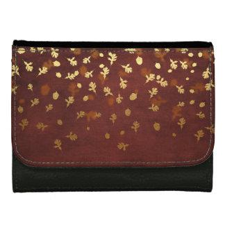 Autumn Gold Leaves Pattern Women's Wallets