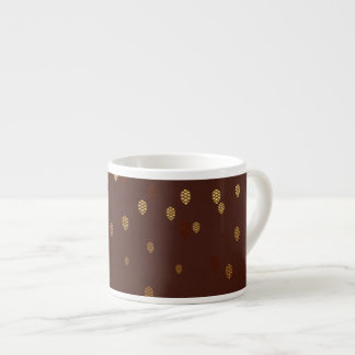 Autumn Gold Leaves/Pinecone Pattern Espresso Cup