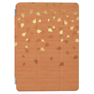 Autumn Gold Leaves/Pinecone Pattern iPad Air Cover