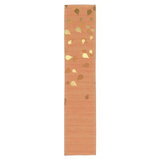 Autumn Gold Leaves/Pinecone Pattern Short Table Runner