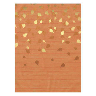 Autumn Gold Leaves/Pinecone Pattern Tablecloth