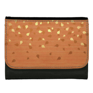 Autumn Gold Leaves/Pinecone Pattern Wallets For Women