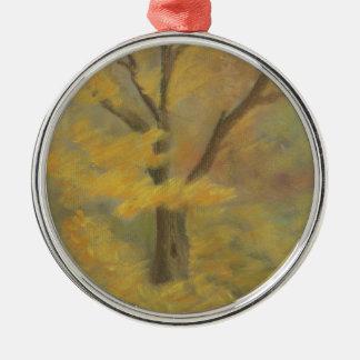 Autumn Gold Silver-Colored Round Ornament