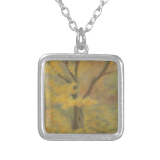 Autumn Gold Silver Plated Necklace