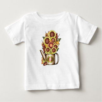 Autumn Gold Sunflower Yellow Country Prims Baby T-Shirt