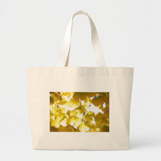 Autumn golden leaves large tote bag