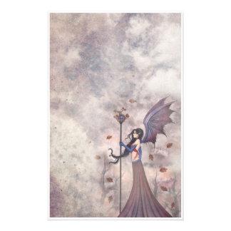 Autumn Gothic Fairy Stationary Stationery