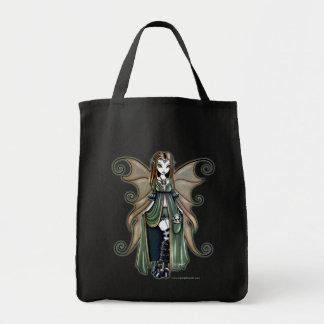 """""""Autumn"""" Gothic Nature Fairy Art Tote Bag"""