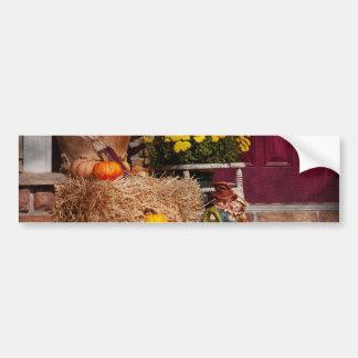 Autumn - Gourd - Autumn Preparations Bumper Stickers