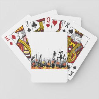 Autumn Grass Playing Cards