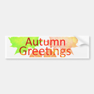 Autumn Greetings Bumper Sticker