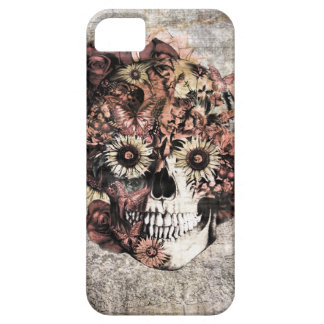 Autumn Grunge Ohm Skull Case For The iPhone 5